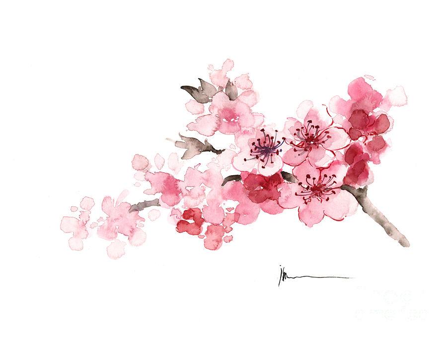 cherry-blossom-branch-watercolor-art-print-painting-joanna-szmerdt